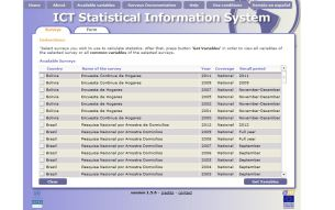 ICT Statistical Information System – OSILAC
