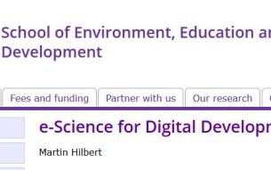 "e-Science for Digital Development: ""ICT4ICT4D"""